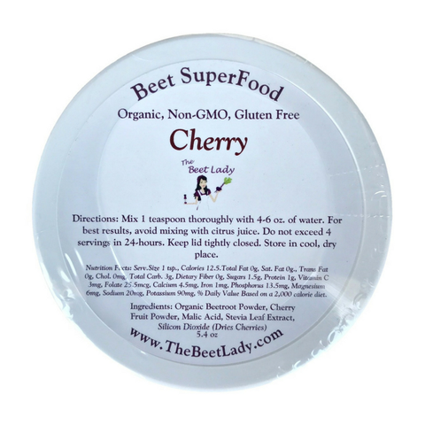 Beet Lady - Organic Beet Superfood Powder - Cherry - 5.4 oz