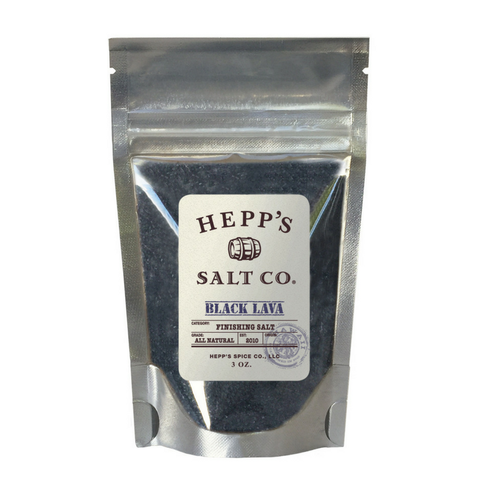 Hepp's Salt - Black Lava Sea Salt - 3 oz