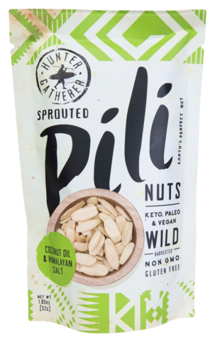 Pili Hunters - Pili Nuts - Coconut Oil & Himalayan Salt - 1.85 oz
