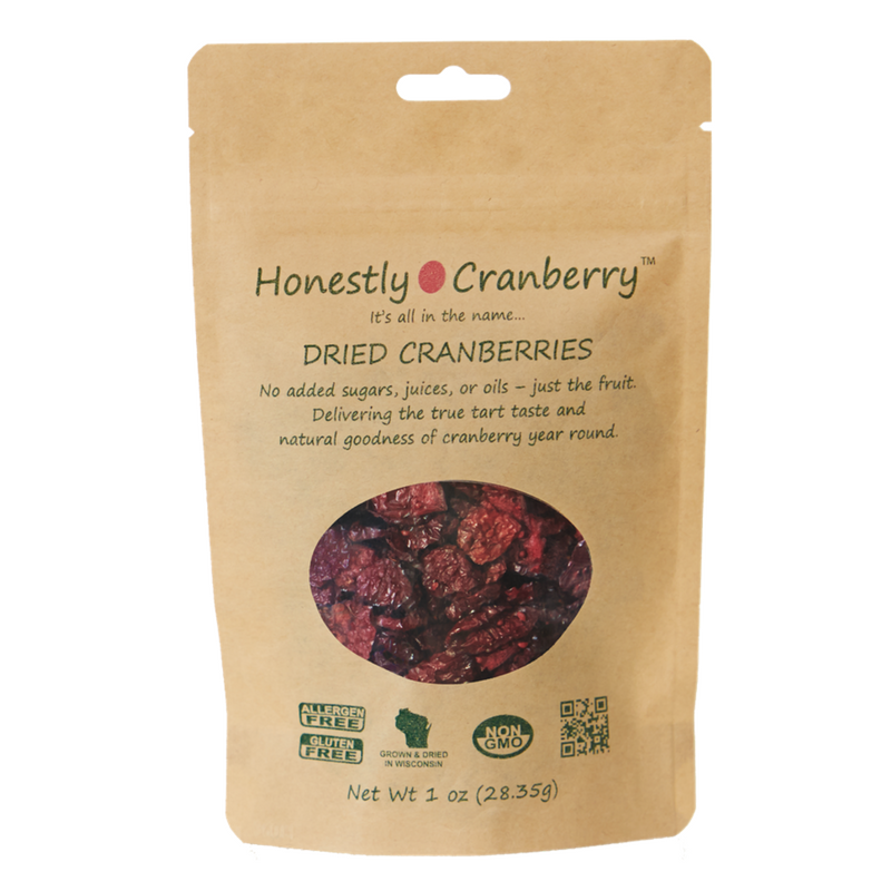 Honestly Cranberry - Unsweetened Dried Cranberries - 1 oz