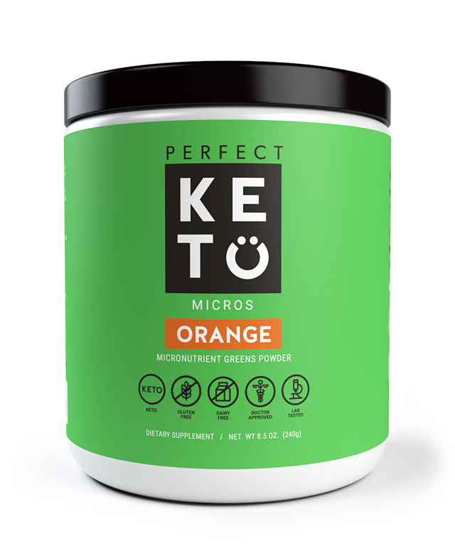 Perfect Keto - Micronutrient Greens Powder with MCT - Orange - 8.5 oz