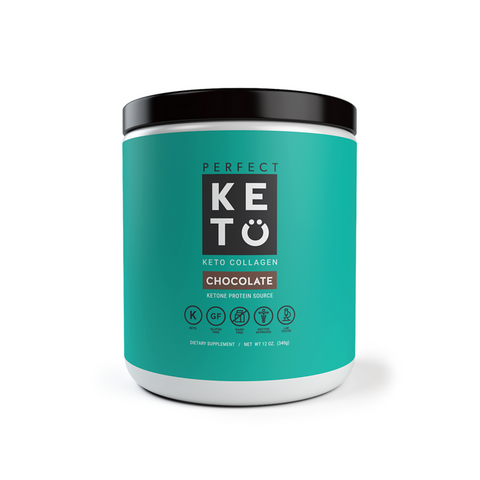 Perfect Keto - Grass-Fed Keto Collagen with MCT - Chocolate - 12 oz