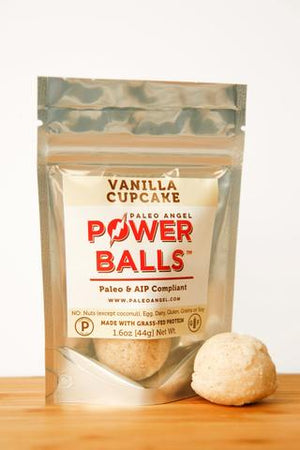 Paleo Angel - Power Balls - Vanilla Cupcake - 2/pk