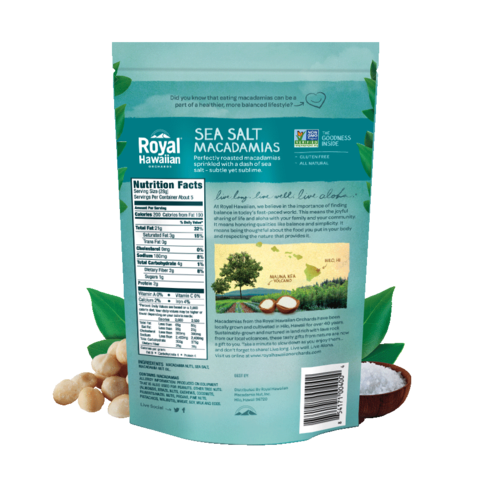 Royal Hawaiian Orchards - Sea Salt Macadamia Nuts - 5 oz