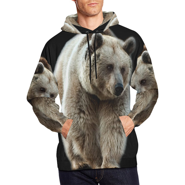 All Over Print Bear Hoodie (USA Size) (Model H13)