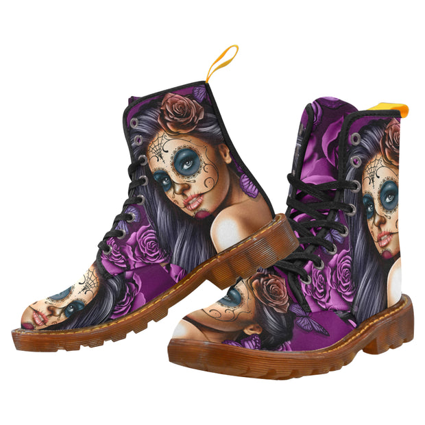 Womens Calavera Canvas Boots
