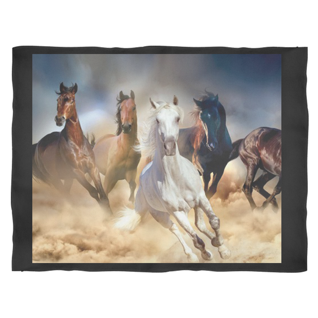 A Horse Fleece Blanket