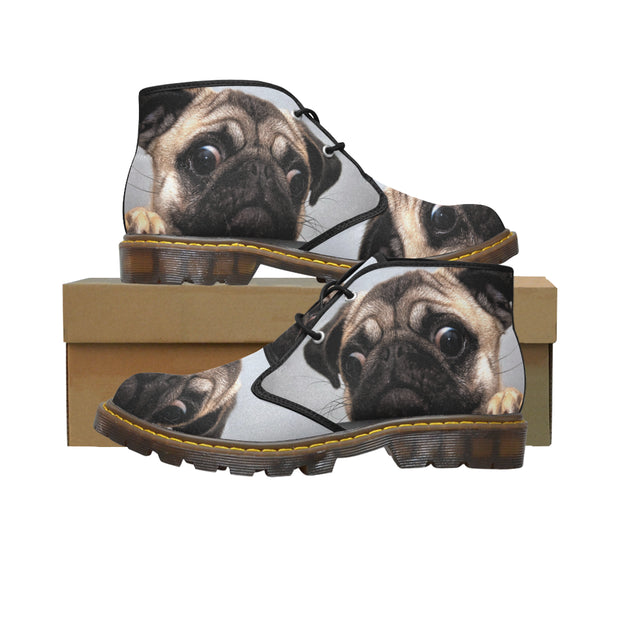 Women's Canvas Chukka Pug Boots (Model 2402-1)