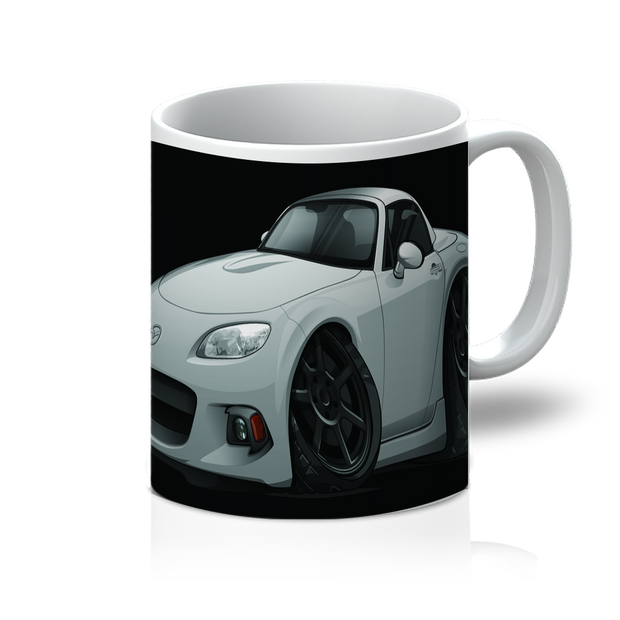 Gray Cartoon Car Hot Rod 11oz Mug