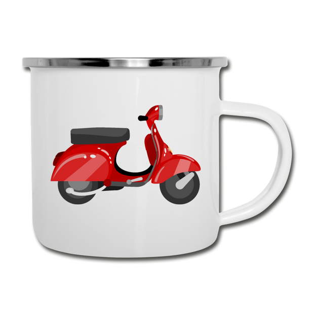 King of the Road Scooter Rider Camp Mug - white