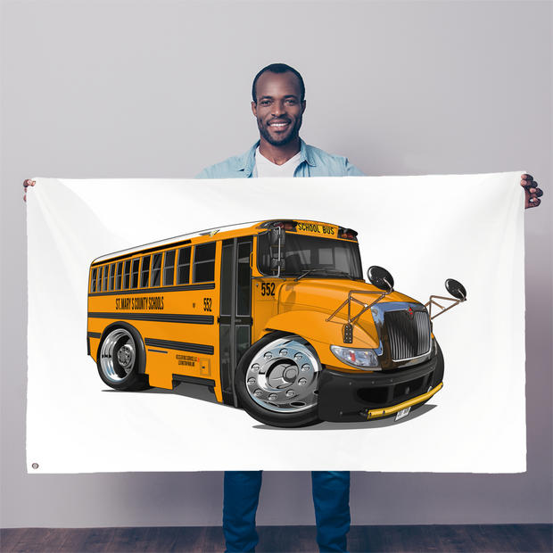 2017 International School Bus Sublimation Flag
