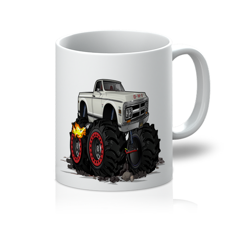 1972 GMC 4x4 Pickup Monster Truck with Rocks Car Art 11oz Mug