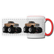 1986 Chevrolet 4x4 Pickup Truck Car Art Panoramic Mug - white/red