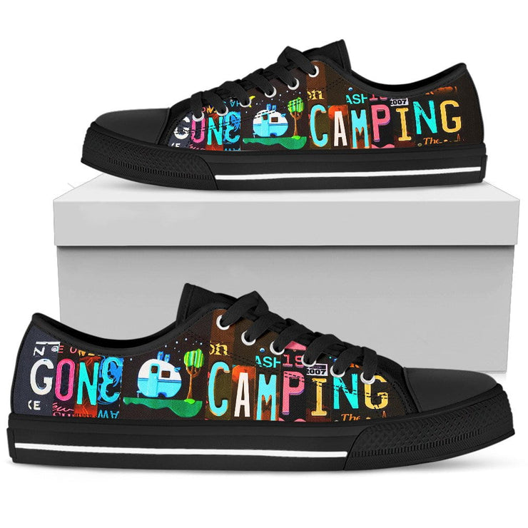 Gone Camping Low Top Mens Tennis Shoes