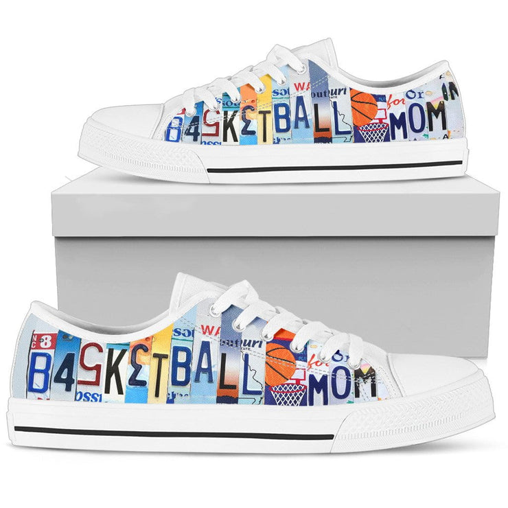 Basketball Mom Low Top Womens Tennis Shoes White