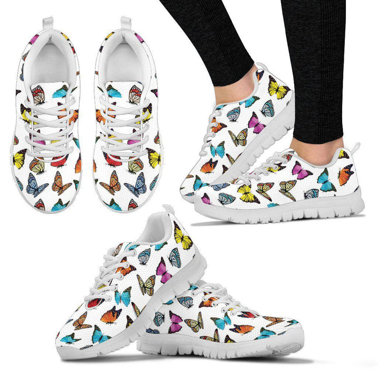 Butterflies Womens Sneakers