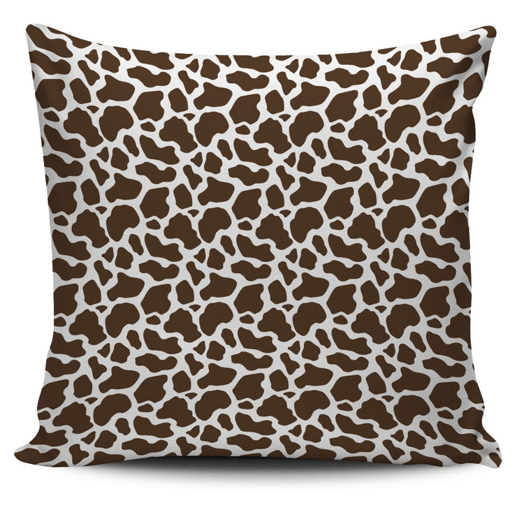 Brown Cow Print Pillow Cover