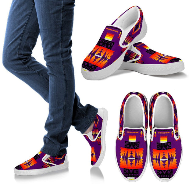 Seven Tribes Purple Men's Slip Ons