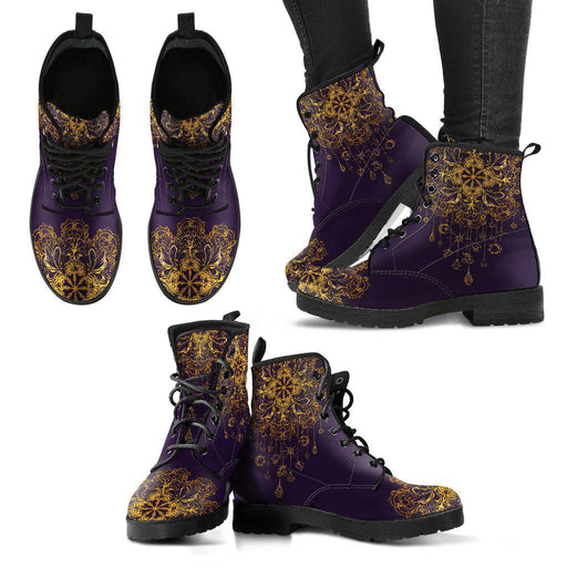 Lotus Mandala Dreamcatcher Women's Leather Boots