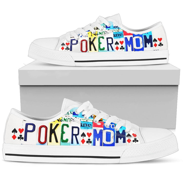 Poker Mom Low Top Womens Tennis Shoes