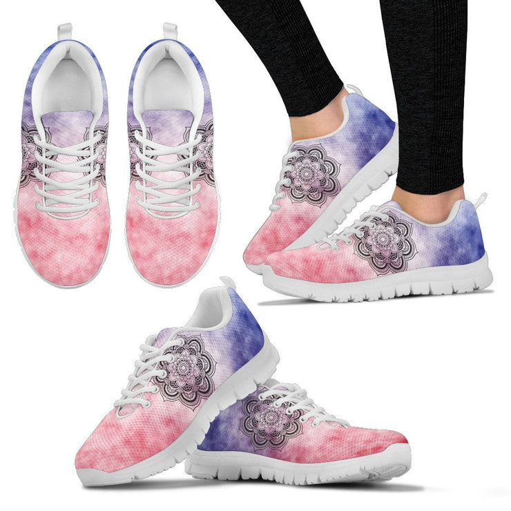 TieDye Mandala Handcrafted White Sole Sneakers