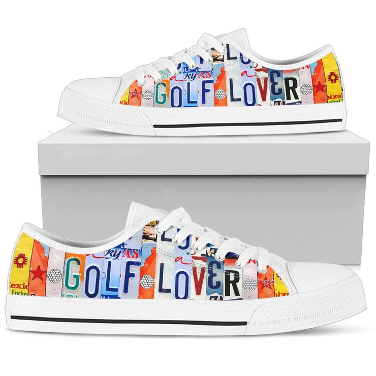 Golf Lover Low Top Mens Tennis Shoes