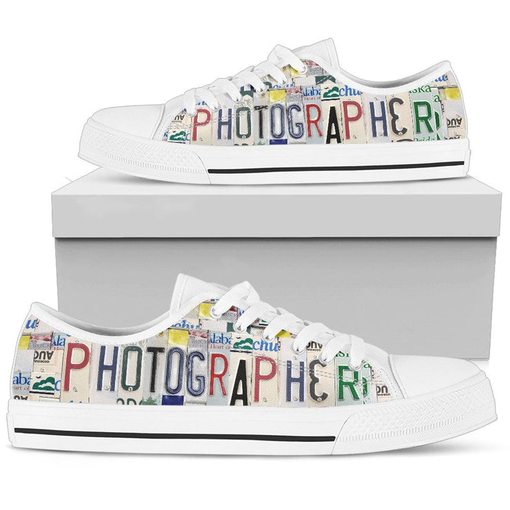 Photographer Low Top Womens Tennis Shoes