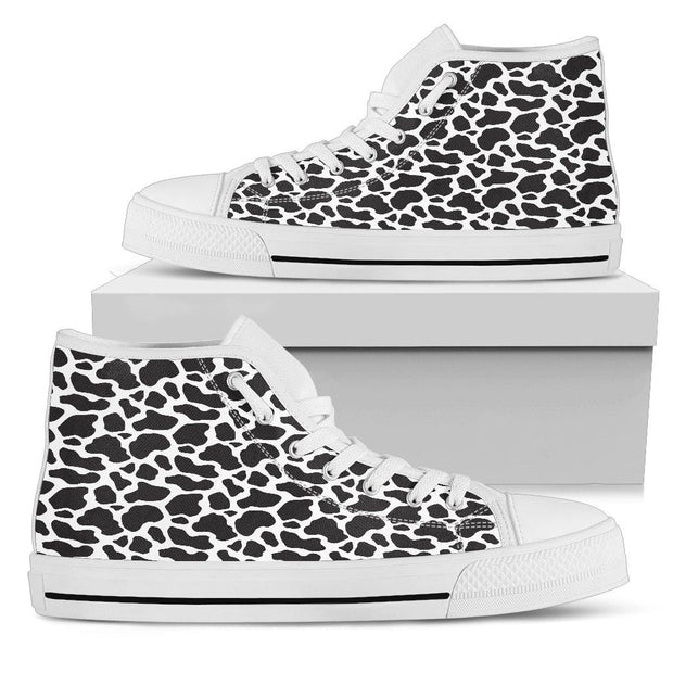 Cow Print High Top Womens Shoes