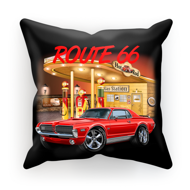 Gas Station 1967 Mercury Cougar Sublimation Cushion Cover