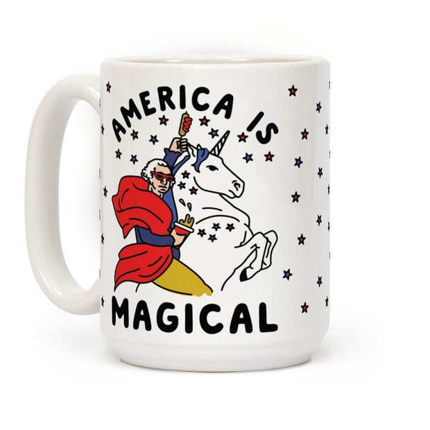 America Is Magical Ceramic Coffee Mug by LookHUMAN