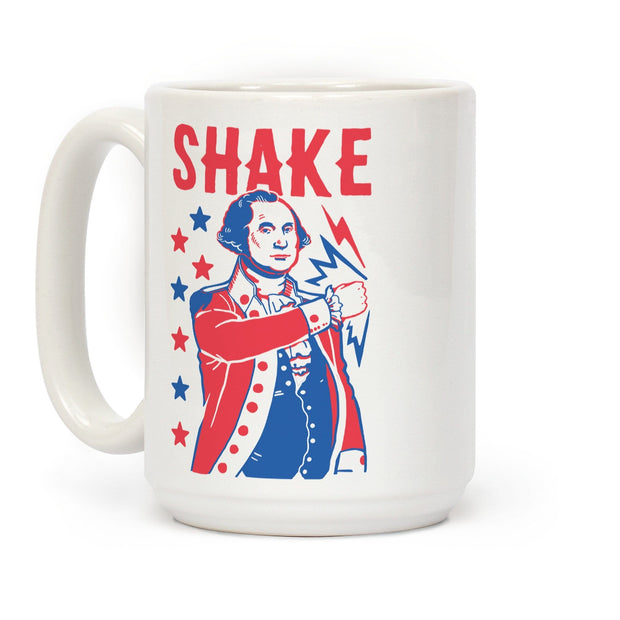 Shake & Bake: George Washington Ceramic Coffee Mug by LookHUMAN