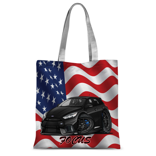 American Flag Ford Focus RS Classic Sublimation Tote Bag