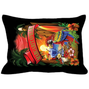 Black Margaritaville Parrot Outdoor Pillows