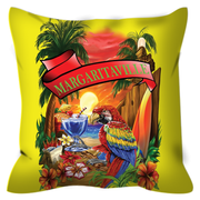 Yellow Margaritaville Parrot Outdoor Pillows
