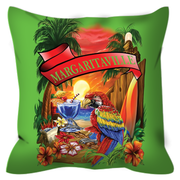 Lime Green Margaritaville Parrot Outdoor Pillows