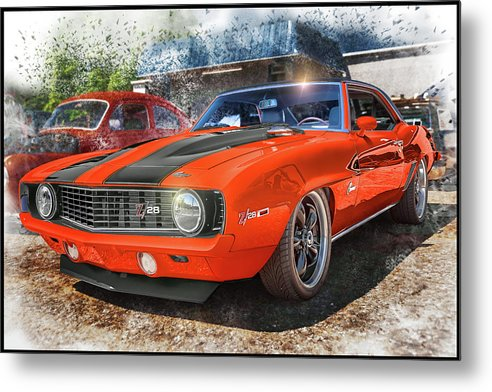 1969 Chevrolet Camaro Z28 Muscle Car Art - Metal Print