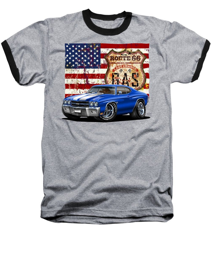 1970 Chevelle Flag - Baseball T-Shirt