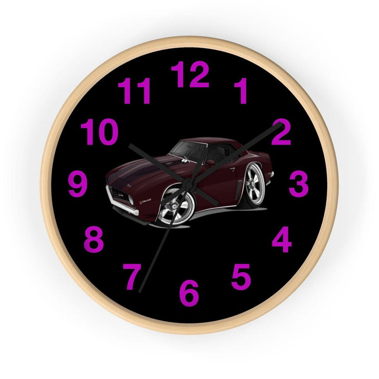 1969 Chevy Camaro Z28 Muscle Car Art Wall clock