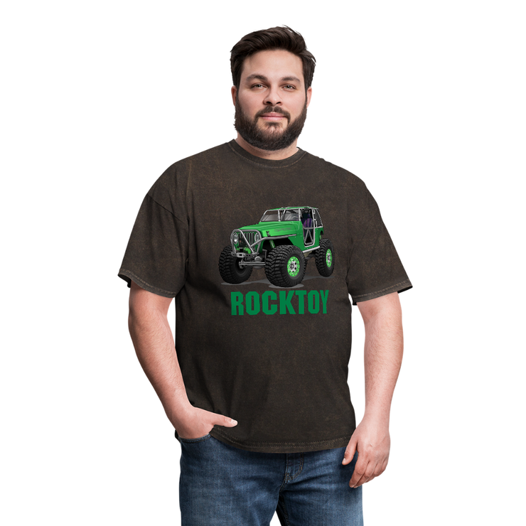 Green Jeep Rocktoy Rock Climber Men's T-Shirt - mineral black