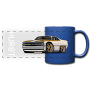 1970 Chrysler 300 Hurst Car Art Full Color Panoramic Mug - royal blue