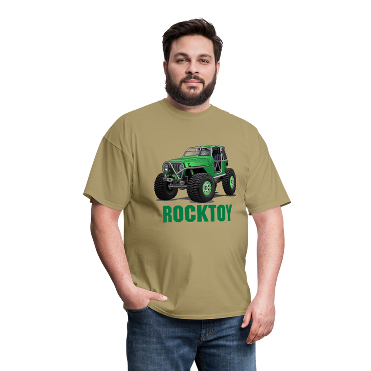 Green Jeep Rocktoy Rock Climber Men's T-Shirt - khaki