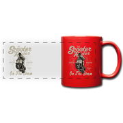 The Scooter Rider Full Color Panoramic Mug - red