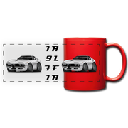 1971 Alfa Romeo Montreal Full Color Panoramic Mug - red