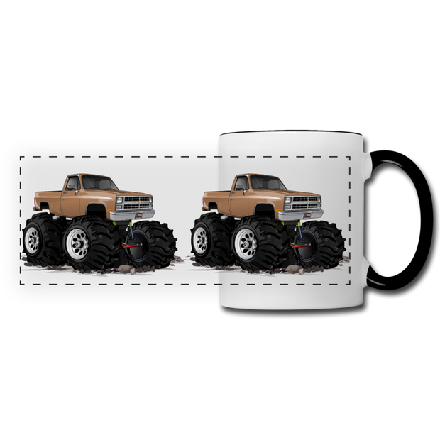 1986 Chevrolet 4x4 Pickup Truck Car Art Panoramic Mug - white/black