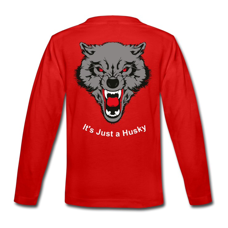 It's Just a Husky Kids' Premium Long Sleeve T-Shirt - red