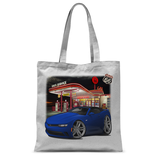 2018 Chevrolet Camaro Blue Convertible Classic Sublimation Tote Bag
