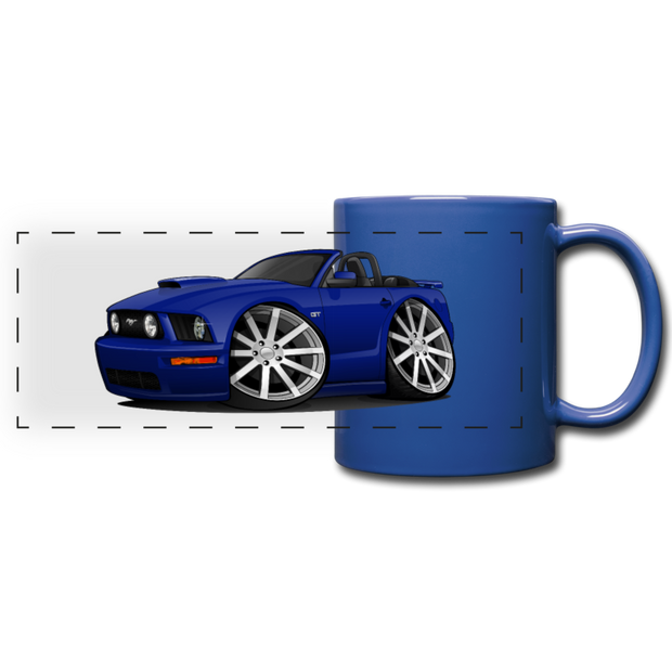 Ford Mustange Convertible Full Color Panoramic Mug - royal blue