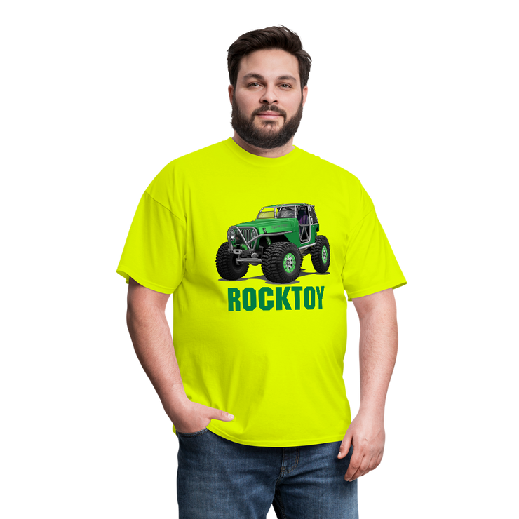 Green Jeep Rocktoy Rock Climber Men's T-Shirt - safety green