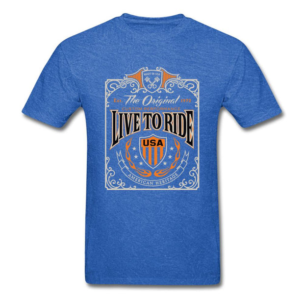 Live to Ride Men's T-Shirt - mineral royal