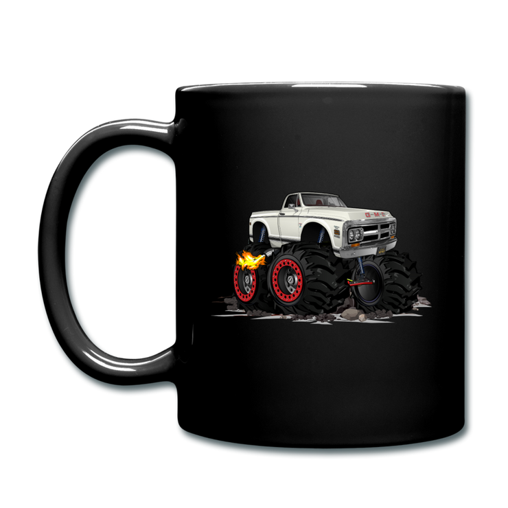 1972 GMC 4X4 Monster Pickup Truck Car Art Full Color Mug - black